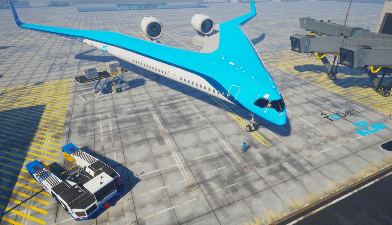 A szárnyában szállítja majd az utasokat a különleges repülőgép