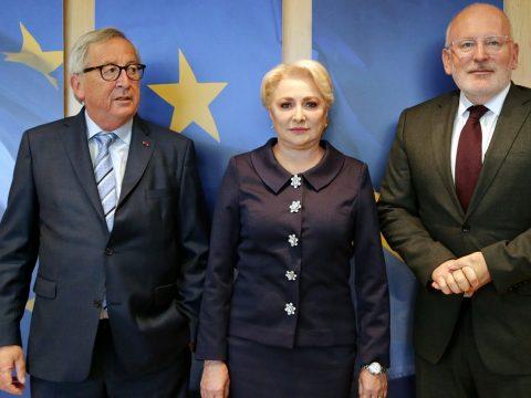 Junckerrel és Timmermansszal találkozott Brüsszelben Viorica Dăncilă
