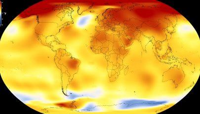 Az utóbbi időszak volt a legmelegebb öt év az elmúlt 150 évben