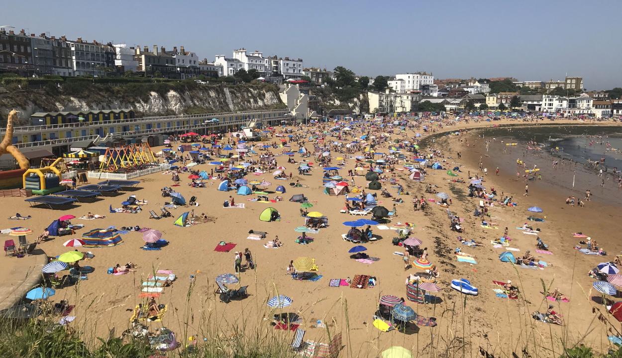 Nagy-Britanniában is megdőlt az abszolút országos melegrekord a múlt heti hőhullámban