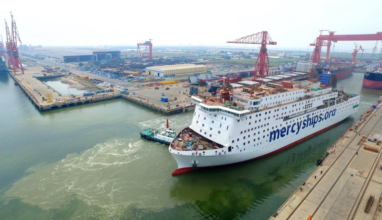 Útra kelt a világ legnagyobb polgári kórházhajója