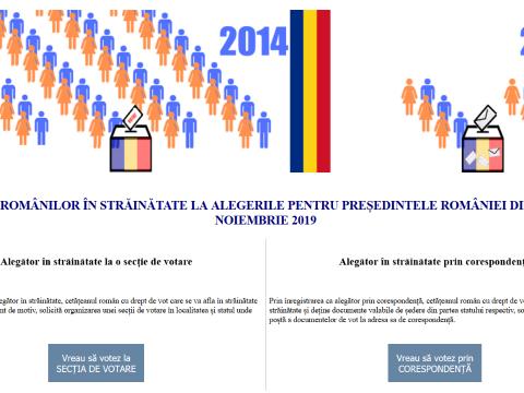 Interneten regisztrálhatnak az elnökválasztásra a külföldön élő román állampolgárok