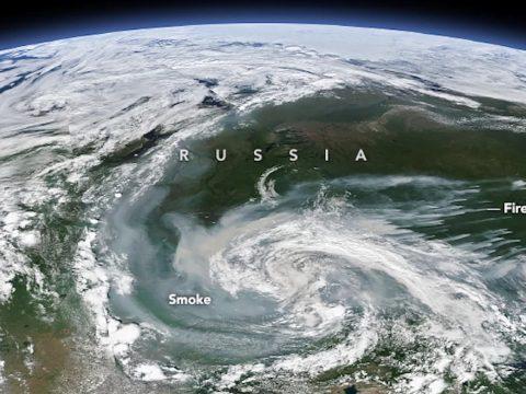 Az űrből is látható az Oroszországban tomboló tűzvész