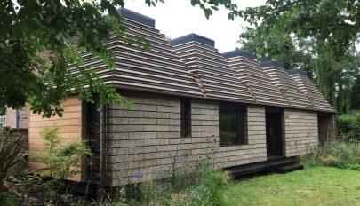 Újrahasznosítható házat építettek parafából brit építészek