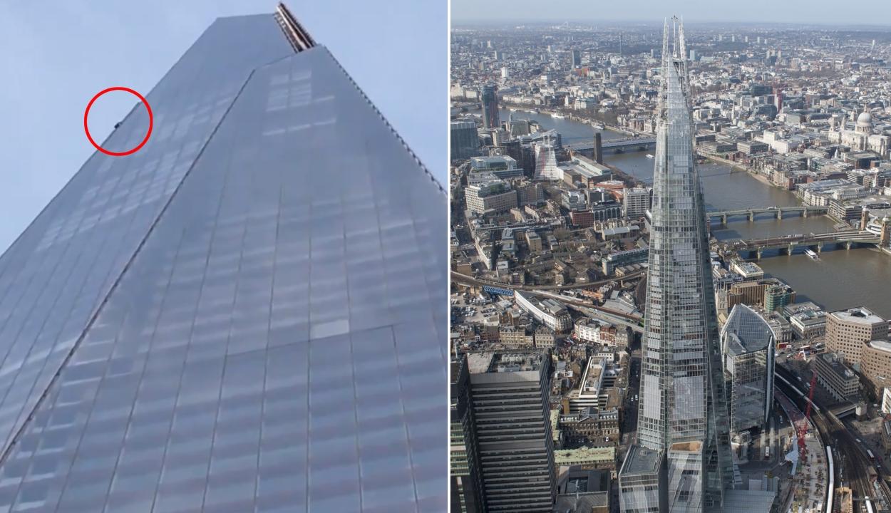 Egy szabadmászó kapaszkodott fel London legmagasabb épületére