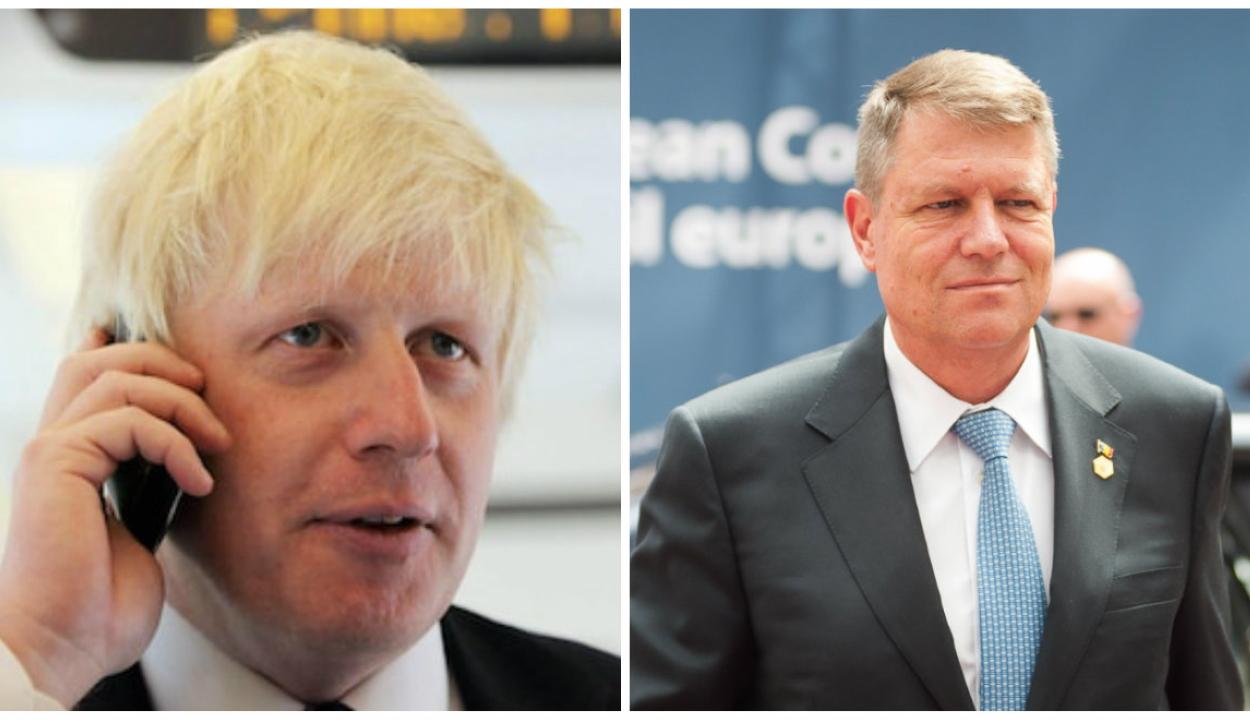 Telefonon egyeztetett Klaus Johannis és Boris Johnson a román-brit kapcsolatokról és a Brexitről