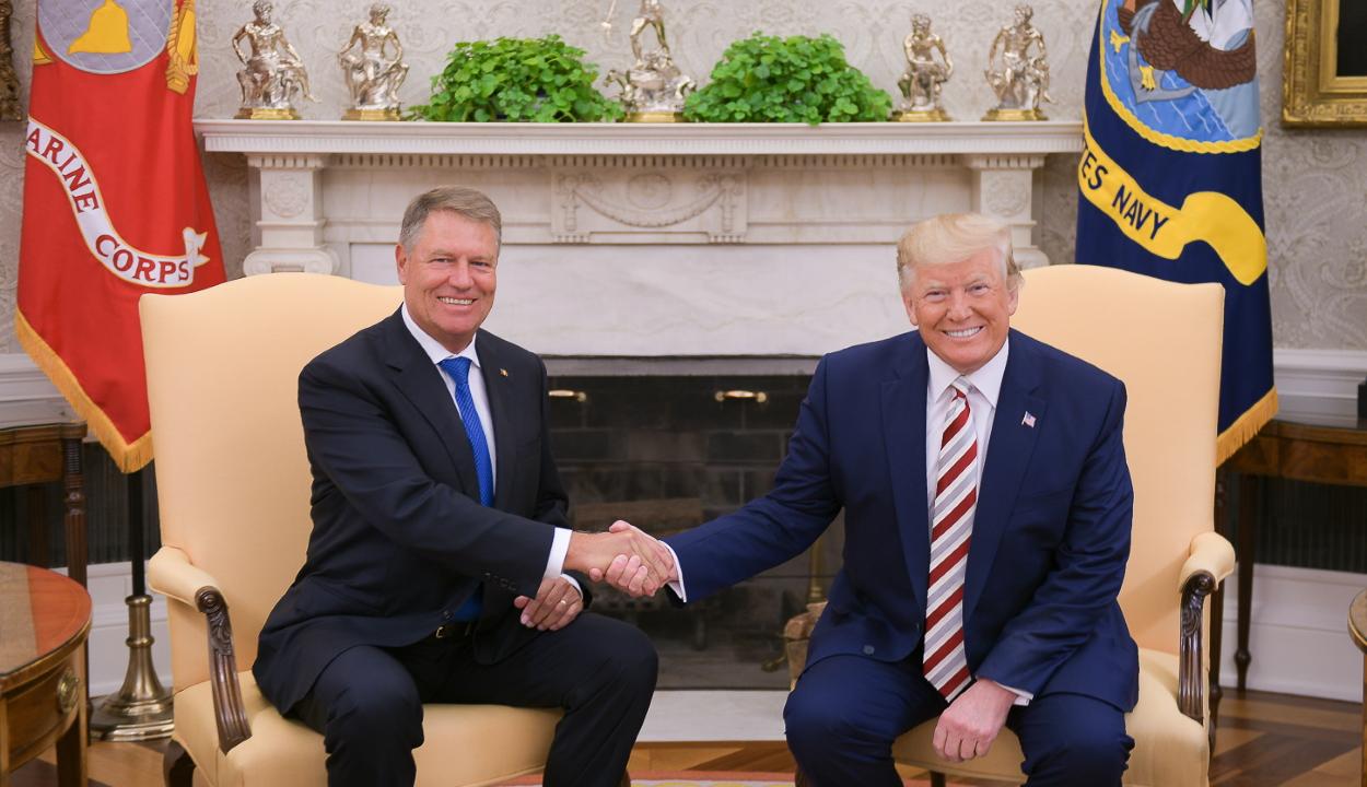 Közös nyilatkozatot fogadott el Klaus Johannis és Donald Trump a Fehér Házban
