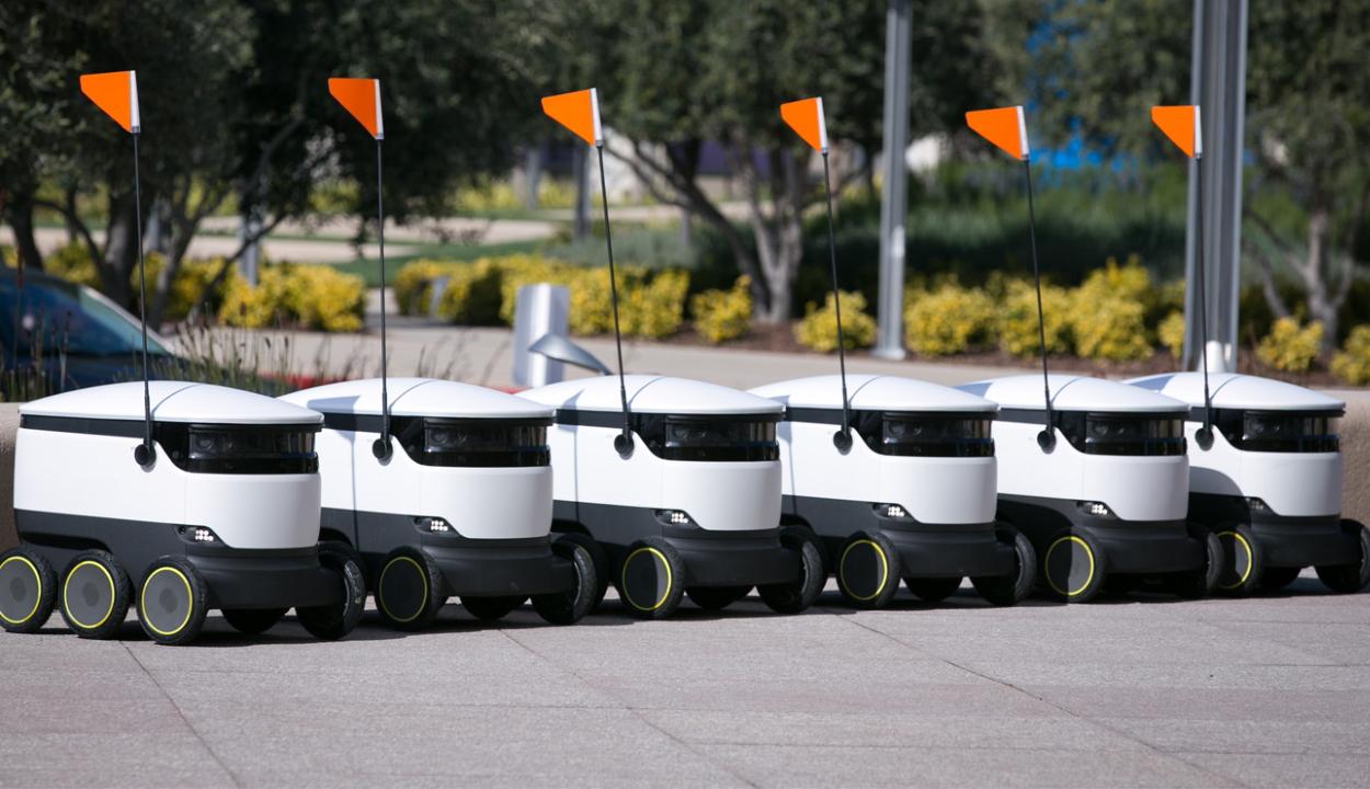 Önjáró robotok szállíthatják ki az ételt az amerikai kollégiumokba