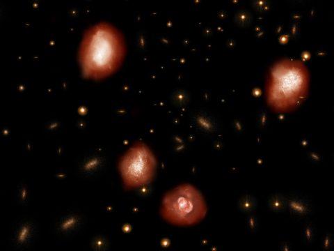 Eddig láthatatlan, hatalmas ősi galaxisokat fedeztek fel