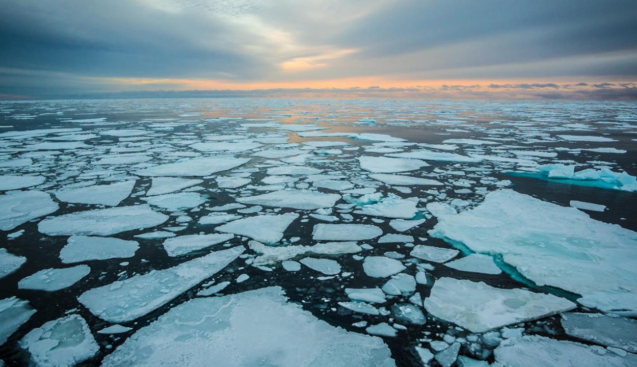 Az eddigi legkisebb kiterjedésű volt az északi és déli sarki tengeri jég 2019 júliusában