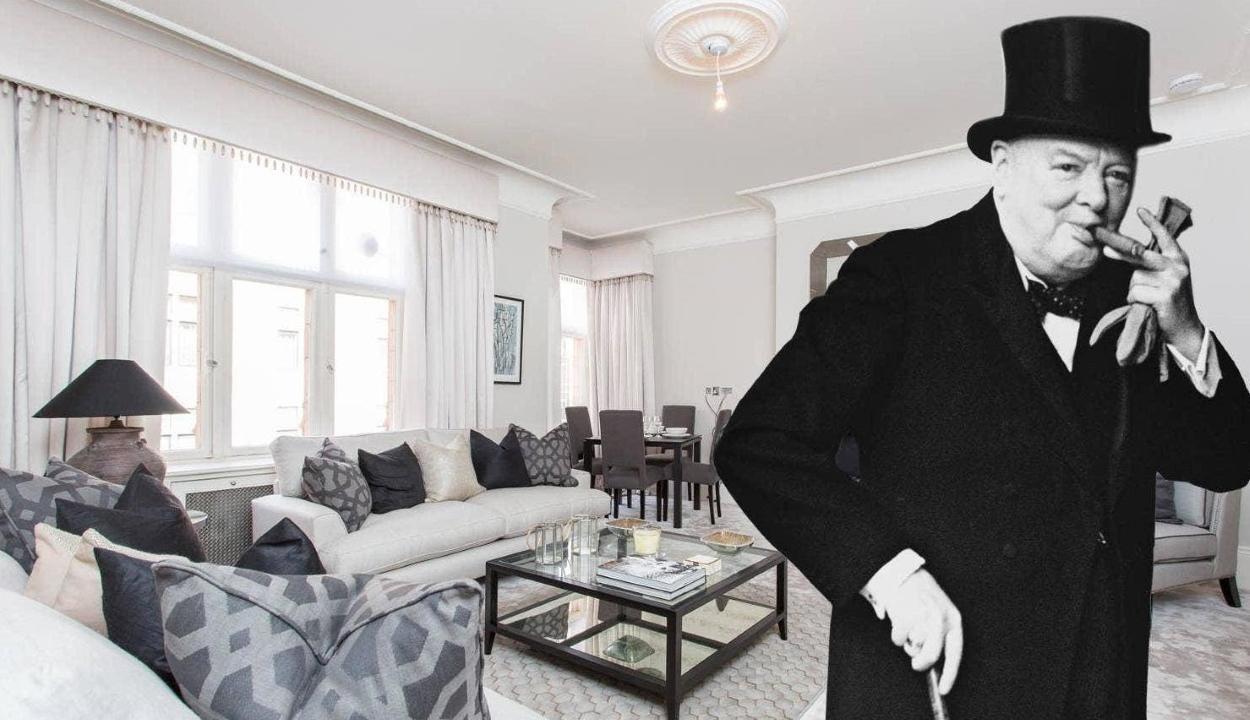 Kiadó Winston Churchill egykori legénylakása Londonban