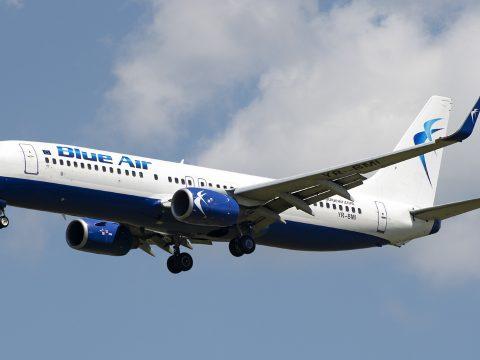 Agresszív utas miatt megszakította útját a Blue Air egyik Bukarestből indult járata