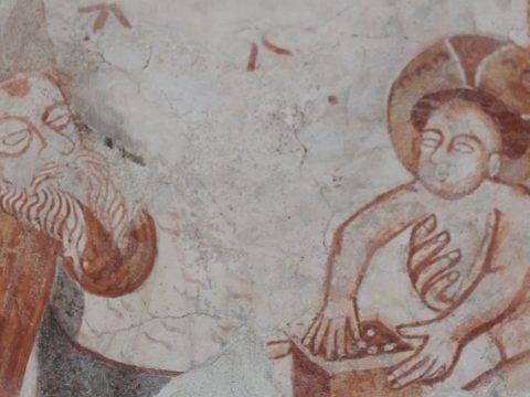 Értékes középkori falképeket restauráltak Gidófalván