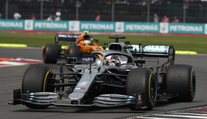 Forma-1: Hamilton győzött Mexikóban, de még nem világbajnok