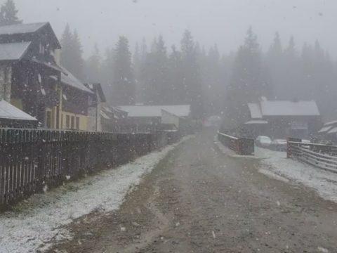 Havazott az éjszaka Hargita megyében; három országúton csúszásgátlót szórtak le