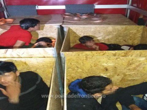 Faládákba bújtatott határsértőket tartóztattak fel Nagylaknál