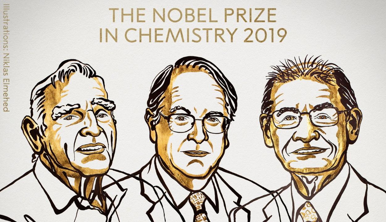 A lítiumion-akkumulátor kifejlesztéséért hárman kapják a kémiai Nobel-díjat