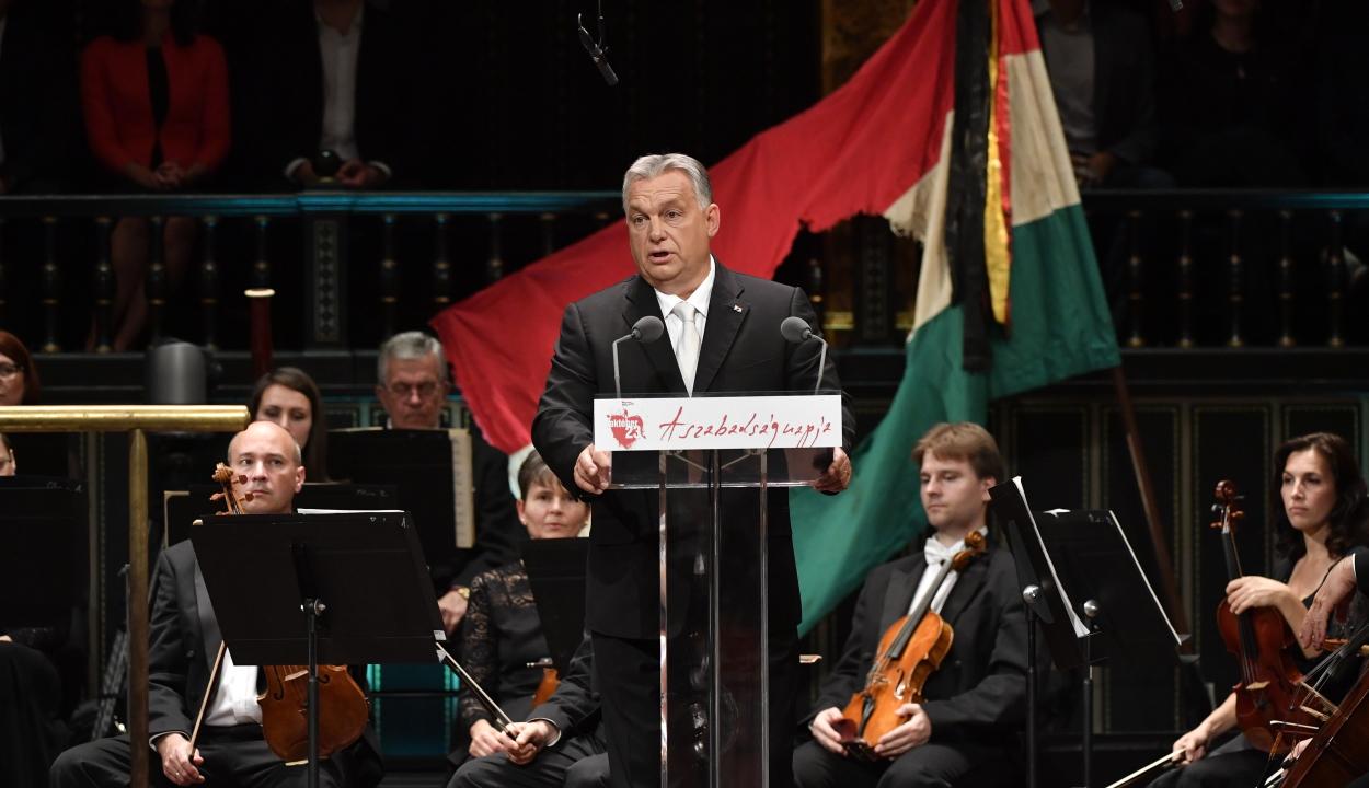 Orbán: 1956-ban is szabad és független Magyarországot akartunk magunknak a nemzetek Európájában