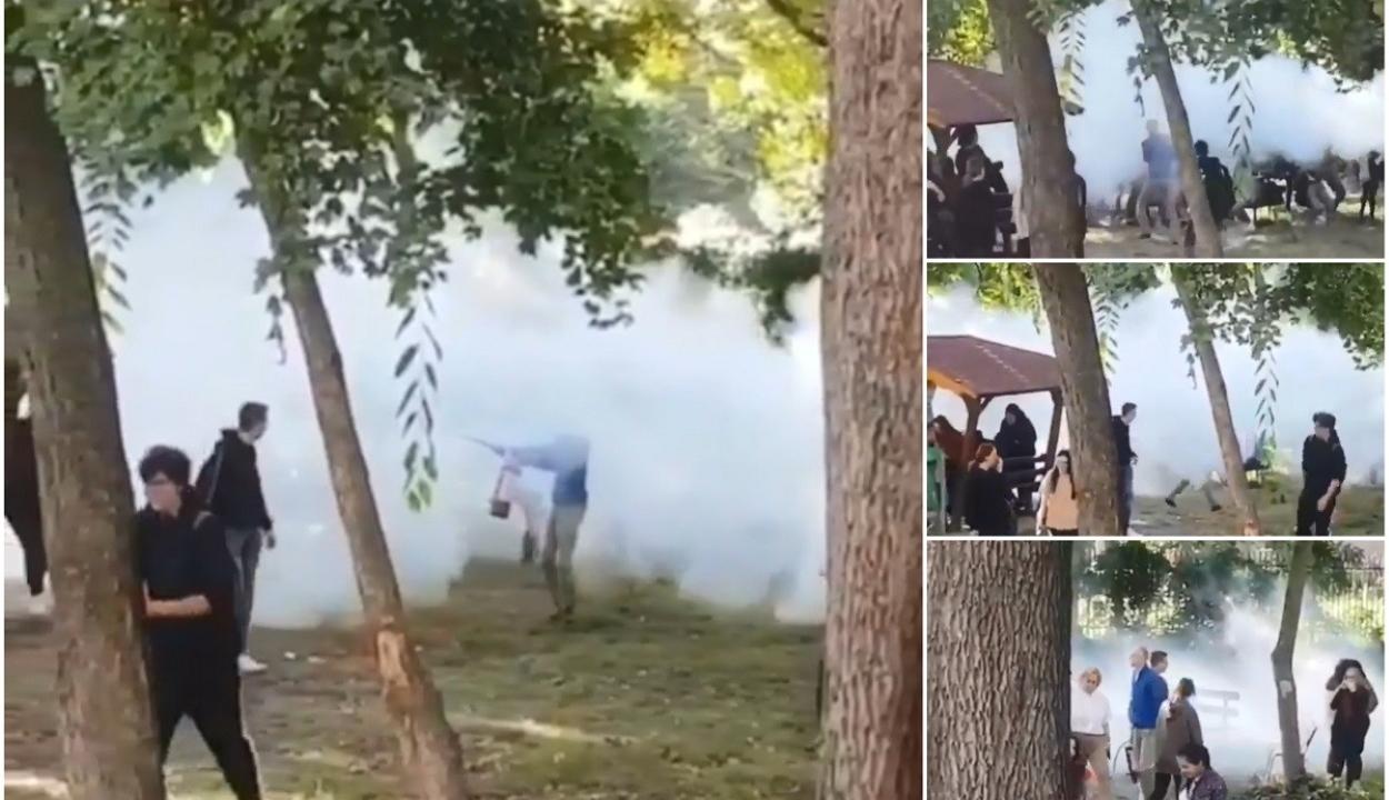 Poroltóval fújta le a cigiző diákokat egy temesvári iskolaigazgató