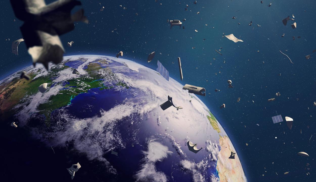 Már a világűrt is teleszemeteltük