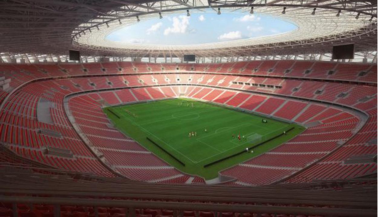 Nagyszabású stadionavató