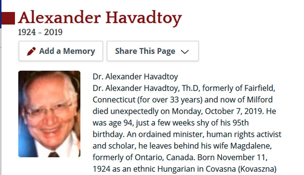 In memoriam dr. Havadtőy Sándor