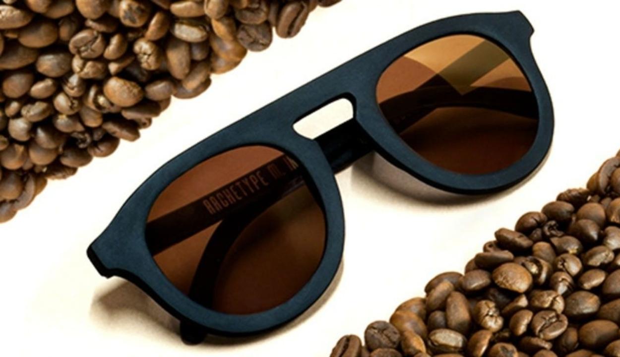 Újrahasznosított napszemüveg kávézaccból