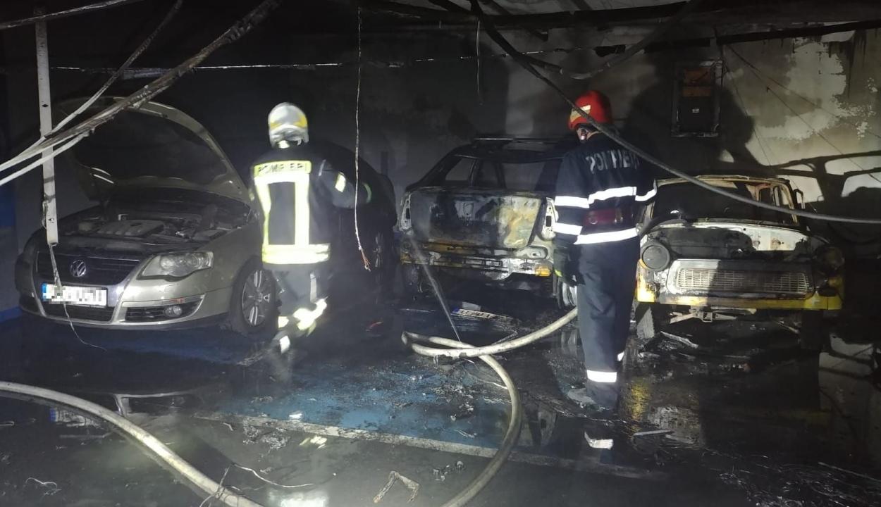 Evakuáltak egy bukaresti bevásárlóközpontot, miután tűz ütött ki a földalatti parkolóban
