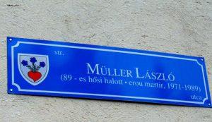 Müller Lászlóról egykori otthona közelében utcát neveztek el Csíkszeredában