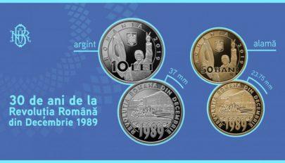 Emlékérméket bocsát ki a román nemzeti bank az 1989-es forradalom 30. évfordulója alkalmából