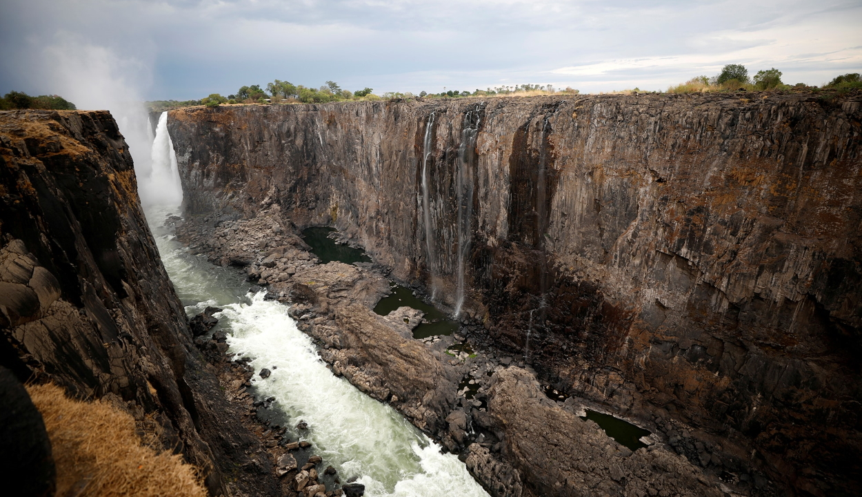Szinte teljesen eltűnt a Viktória-vízesés