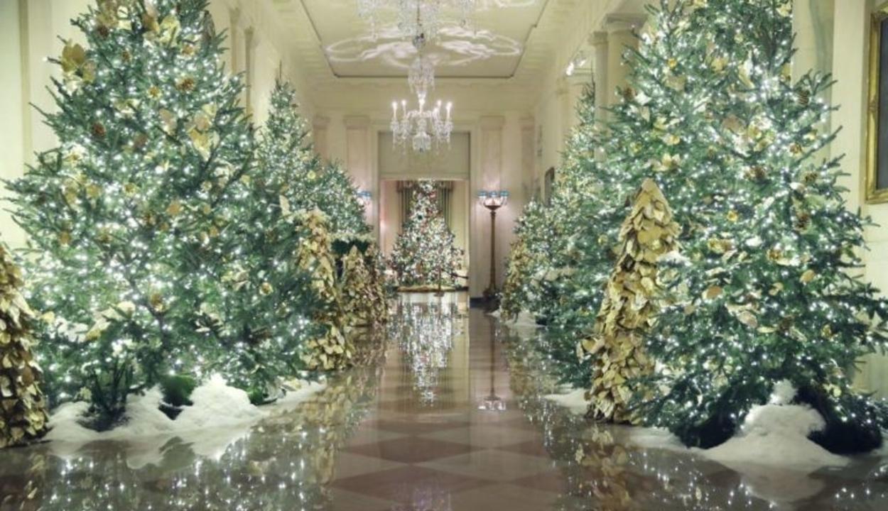 Álomszép lett a Fehér Ház idei karácsonyi dekorációja