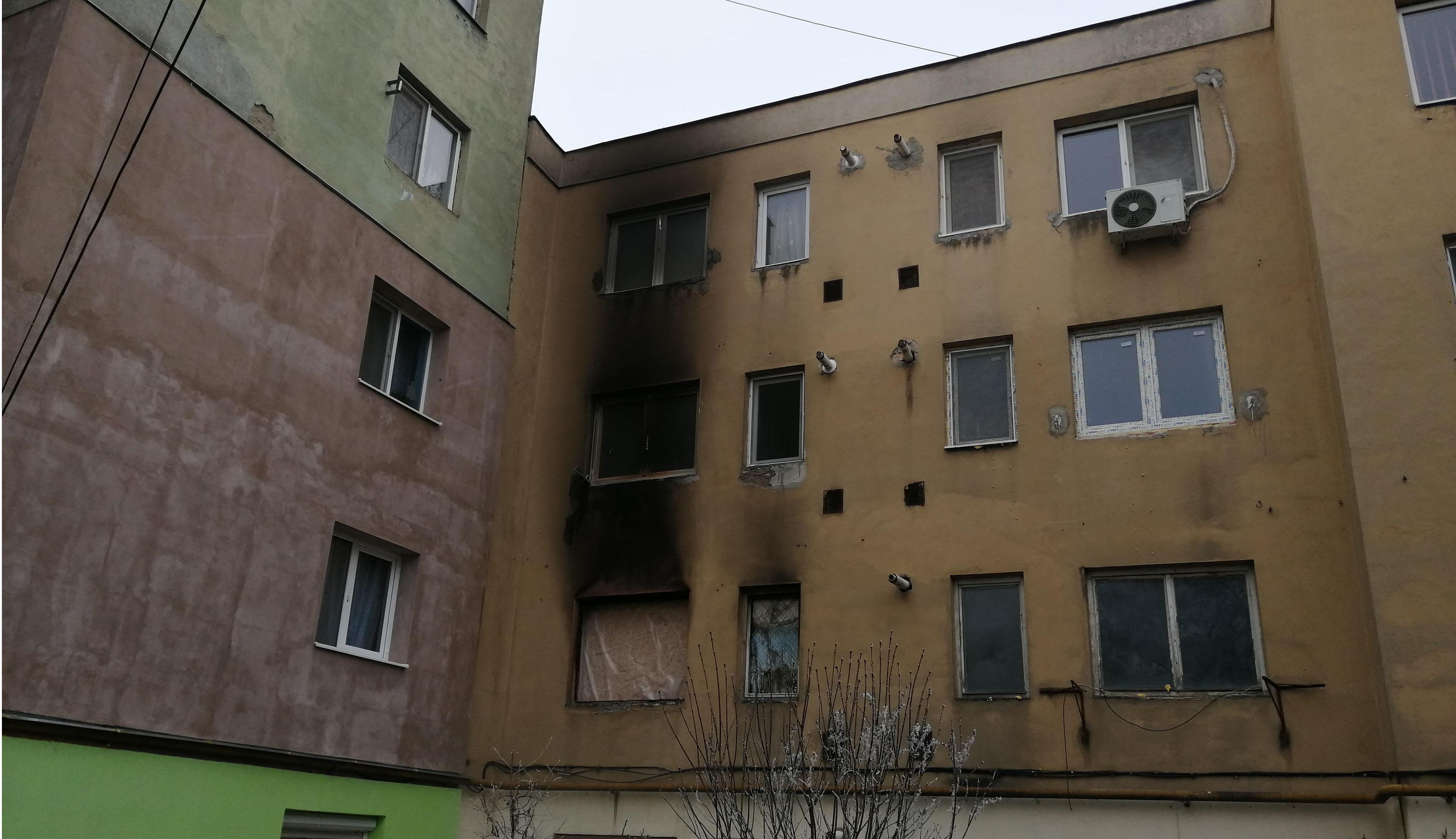 Kiégett egy lakrész Baróton