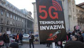 Az 5G hálózat bevezetése ellen tiltakoztak Bukarestben