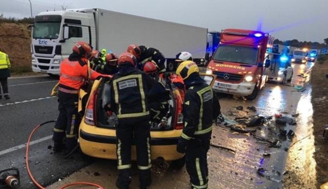 Román állampolgárok baleseteztek Spanyolországban