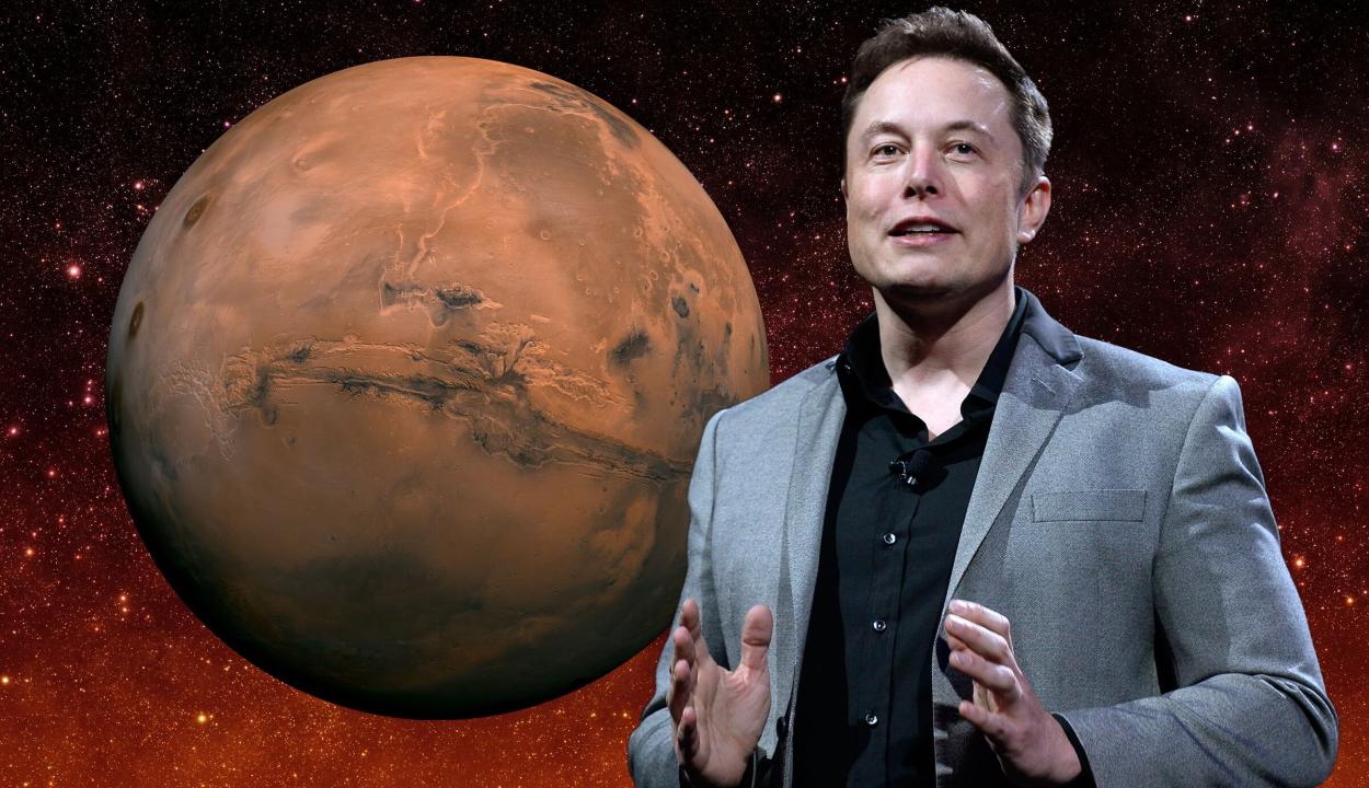 Egymillió embert telepítene a Marsra Elon Musk
