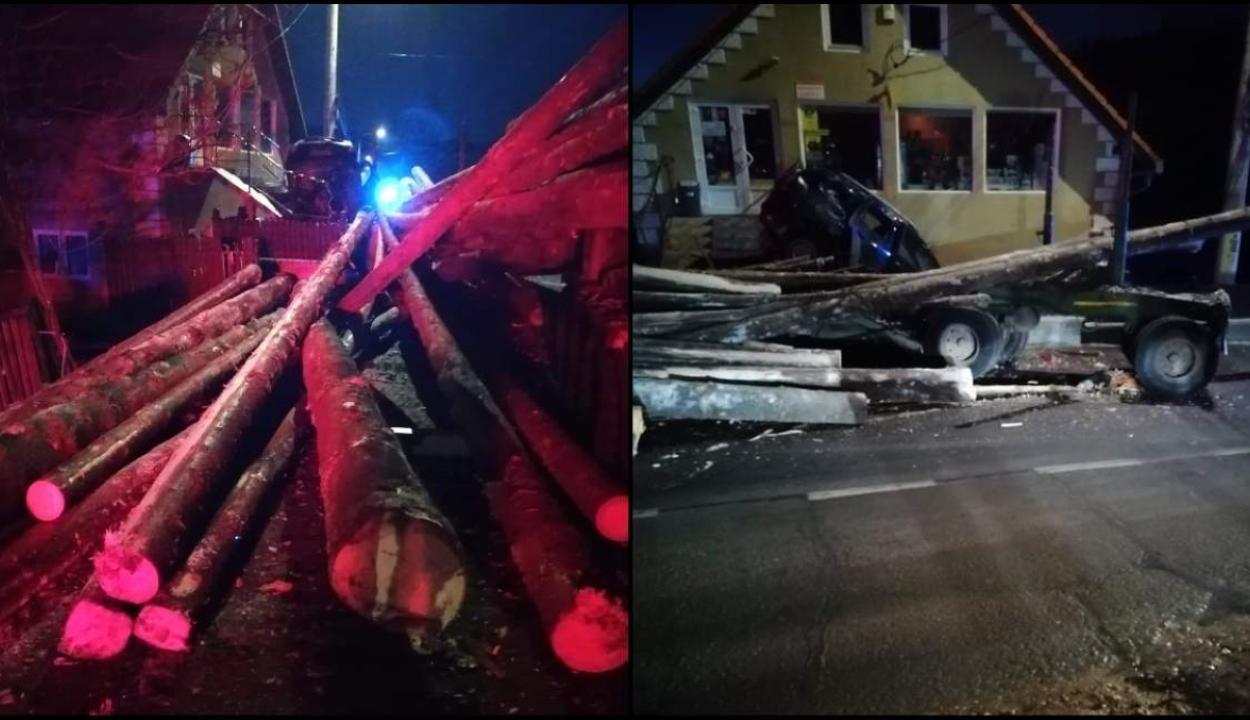 Nyergesvontatóról lezuhanó farönkök okozták egy nő halálát Hargita megyében