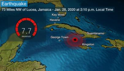 Erős földrengés volt Jamaica partjainál