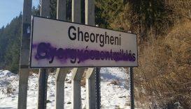 Festékszóróval fújták le a gyergyószentmiklósi és gyilkostói helységnévtáblák magyar feliratait