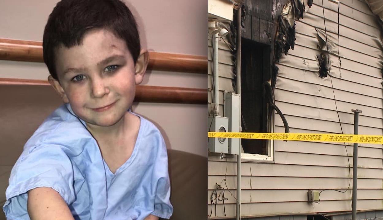 Ötéves kisfiú mentette ki családját az égő házból