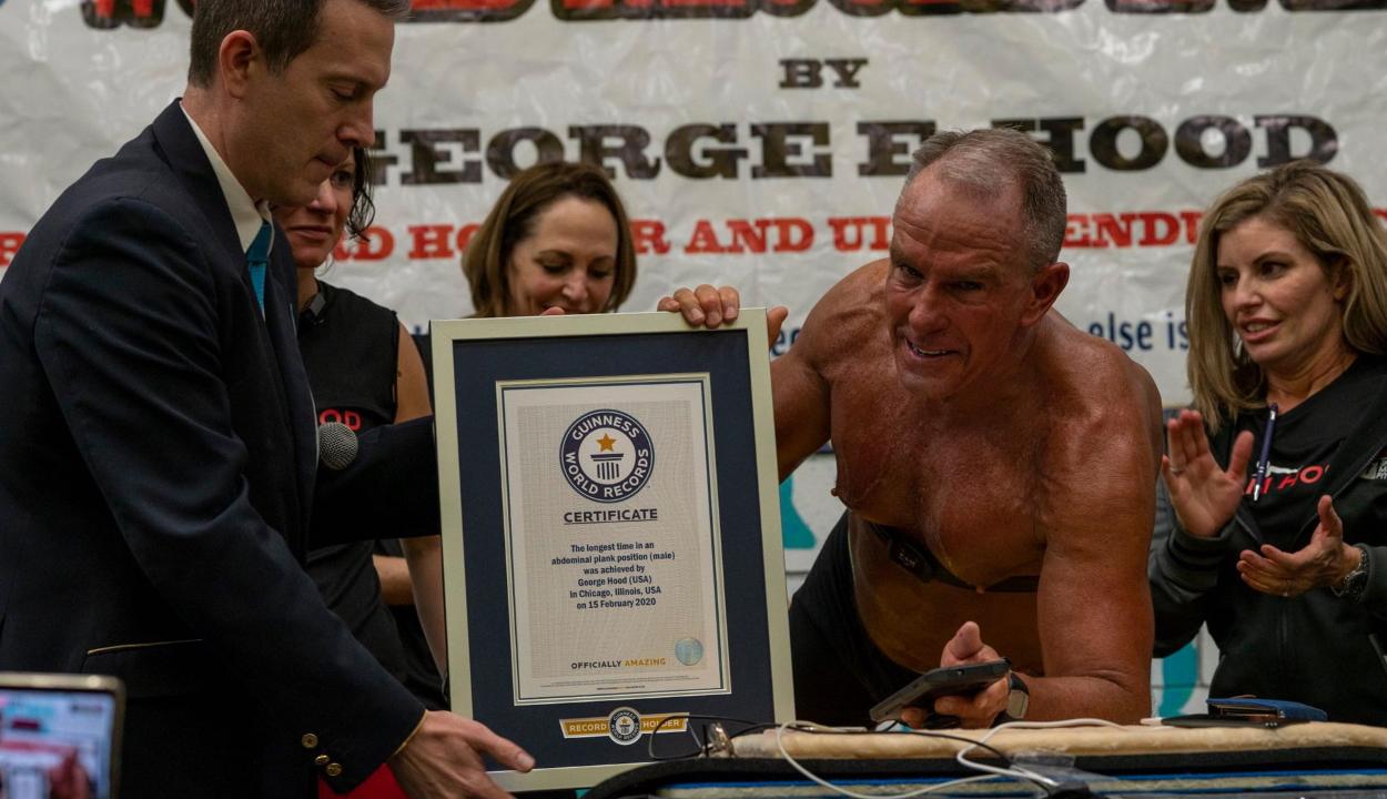 Elképesztő rekordot állított fel egy 62 éves ex-tengerészgyalogos