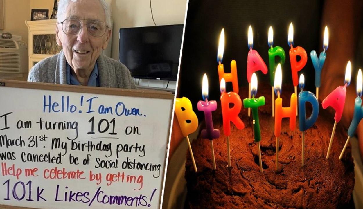 Elmarad a 101 éves bácsi születésnapi partija – a világ összefogott, hogy kárpótolják