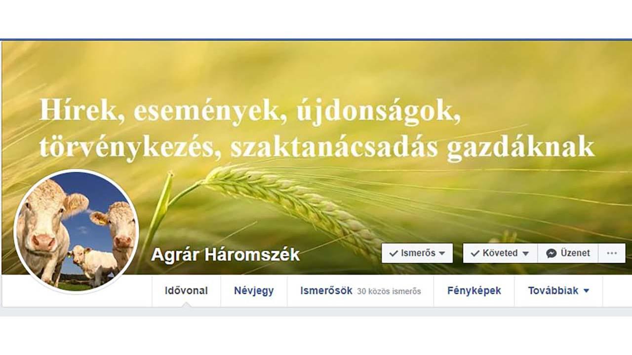 Agrár Háromszék a Facebookon