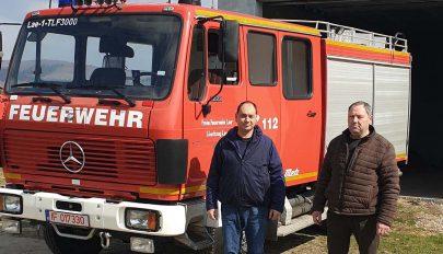 Új tűzoltóautóval bővült a park