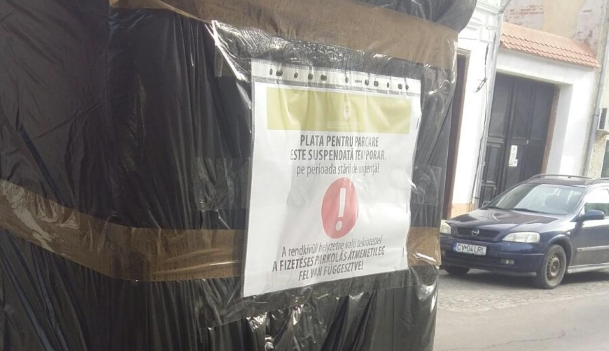 Felfüggesztették a fizetéses parkolást Sepsiszentgyörgyön