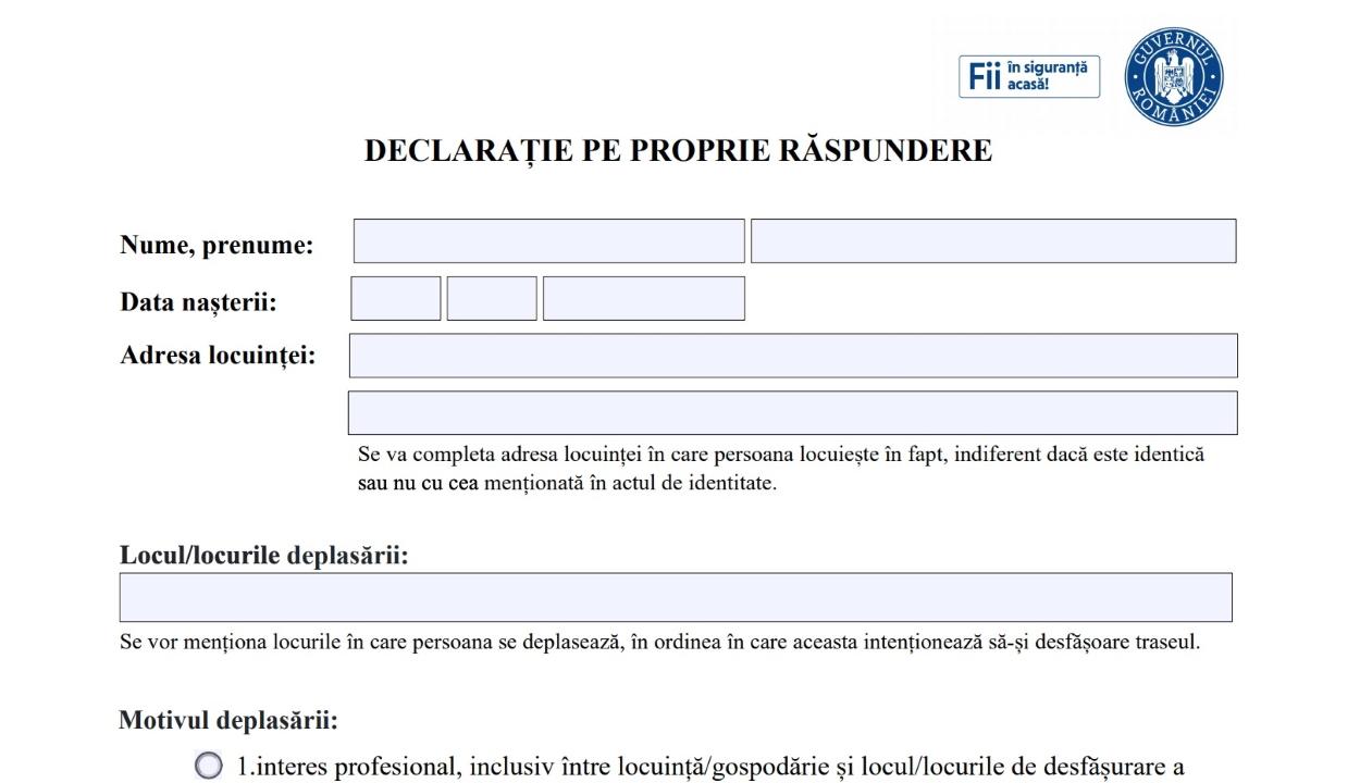 Online is kitölthetők a kijáráshoz szükséges nyilatkozatok