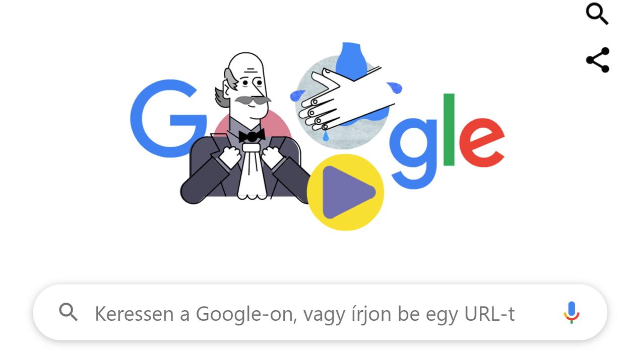 Semmelweis Ignác előtt tiszteleg ma a Google