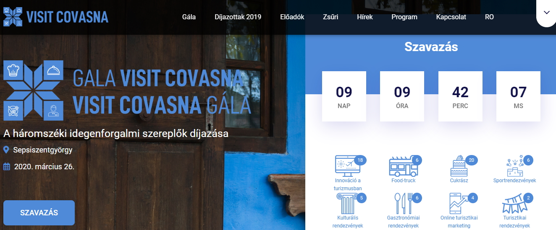 Március 11-20. között lehet szavazni a Visit Covasna Gála jelöltjeire