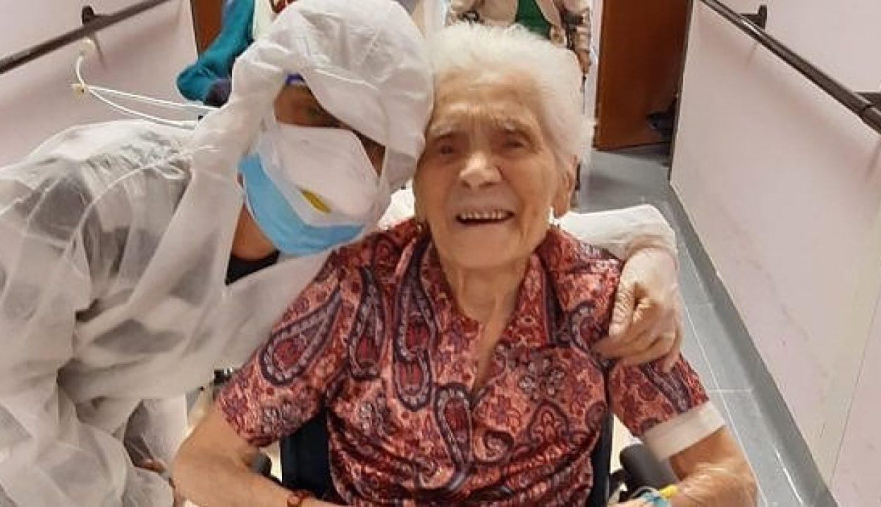Egy 103 éves olasz nő, aki már a spanyolnáthát is túlélte, kigyógyult a COVID-19 vírusból is