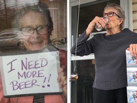 """""""Kellene még sör!"""" – kért segítséget a 93 éves nő, 150 dobozzal kapott a gyártótól"""